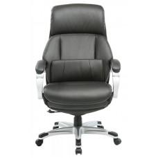Кресло руководителя Бюрократ _Miro черный рец.кожа/кожзам крестовина пластик подст.для ног пластик серебро