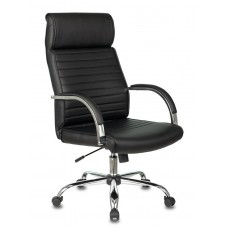 Кресло руководителя Бюрократ T-8010N черный искусственная кожа крестовина металл хром