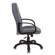 Кресло руководителя Бюрократ T-898AXSN серый 10-128 крестовина пластик
