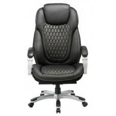 Кресло руководителя Бюрократ T-9917 черный рец.кожа/кожзам крестовина пластик пластик серебро
