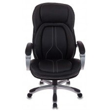 Кресло руководителя Бюрократ T-9919 черный рец.кожа/кожзам крестовина пластик пластик серебро