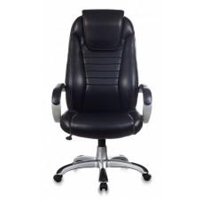 Кресло руководителя Бюрократ T-9923 черный Leather Venge Black искусственная кожа крестовина пластик пластик серебро