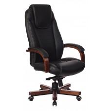 Кресло руководителя Бюрократ T-9923WALNUT черный кожа крестовина металл/дерево