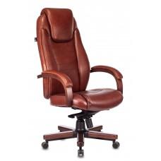 Кресло руководителя Бюрократ T-9923WALNUT светло-коричневый Leather Eichel кожа крестовина металл/дерево