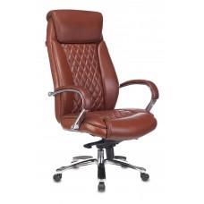 Кресло руководителя Бюрократ T-9924SL светло-коричневый Leather Eichel кожа крестовина металл хром