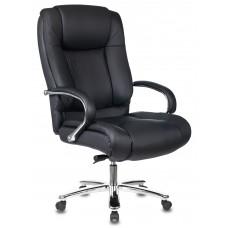 Кресло руководителя Бюрократ T-9925SL черный кожа крестовина металл хром