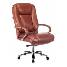 Кресло руководителя Бюрократ T-9925SL светло-коричневый Leather Eichel кожа крестовина металл хром