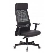 Кресло руководителя Бюрократ T-995 черный TW-01 искусст.кожа/сетка с подголов. крестовина металл черный