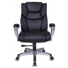 Кресло руководителя Бюрократ T-9999 черный рец.кожа/кожзам крестовина металл/пластик пластик серебро