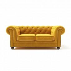Диван Chesterfield Lux двухместный желтый