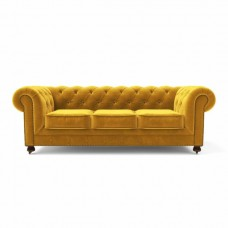 Диван Chesterfield Lux трехместный желтый