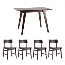Обеденная группа Gudi, стулья Oden Wood