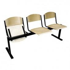 Секция стульев деревянная без подлокотников