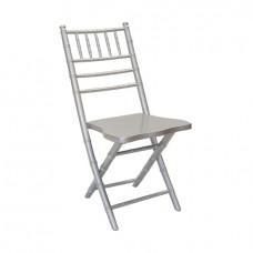 Складной стул Кьявари серебряный, деревянный