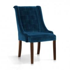 Стул Atreve prince velvet, темно-синий, ножки орех, BL86
