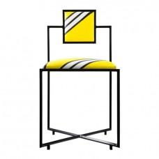 Стул дизайнерский Ругаса мягкий желтый