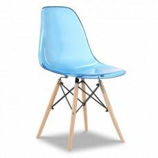 Стул Eames, голубой прозрачный