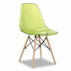 Стул Eames, зеленый прозрачный
