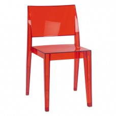 Стул Гиза Красный, пластиковый