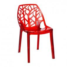 Стул Лили Красный, пластиковый