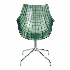 Стул Меридиан зеленый прозрачный