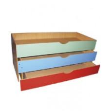 Кровать детская трехъярусная выкатная с крышкой 151*67*65 см ЛДСП