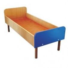 Кровать детская МД-06Л/3 ЛДСП на металлокаркасе, без борта