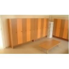 Кабинки для раздевания 5 секций 1346х300х1250мм