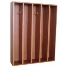 Вешалка для полотенец навесная МД-05/1 60*15*80 см ЛДСП, 5 секций
