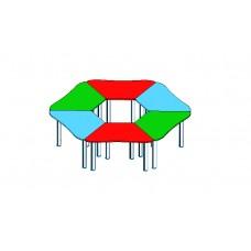 Стол детский Ромашка 6 сегментов, ЛДСП, кромка