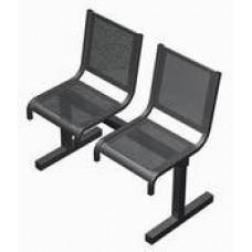 Секция перфорированная СП1.102 из 2-х стульев без подлокотников
