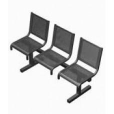 Секция перфорированная СП1.103 из 3-х стульев без подлокотников