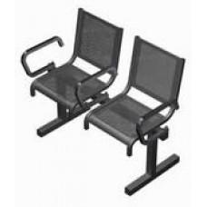 Секция перфорированная СП1.112 из 2-х стульев с подлокотниками