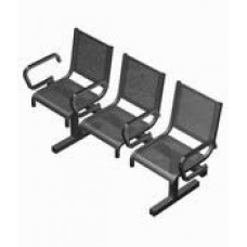Секция перфорированная СП1.113 из 3-х стульев с подлокотниками