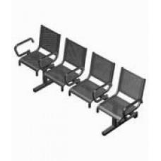 Секция перфорированная СП1.114 из 4-х стульев с подлокотниками