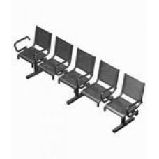 Секция перфорированная СП1.115 из 5-ти стульев с подлокотниками