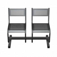 Секция перфорированная СП2.102 из 2-х стульев без подлокотников