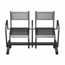 Секция перфорированная СП2.112 из 2-х стульев с подлокотниками