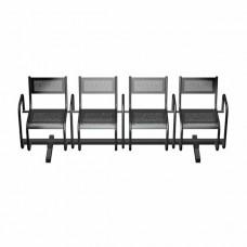 Секция перфорированная СП2.114 из 4-х стульев с подлокотниками