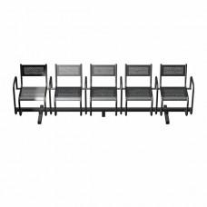 Секция перфорированная СП2.115 из 5-х стульев с подлокотниками