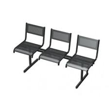 Секция перфорированная СП3.103 из 3-х стульев низкая спинка, без подлокотников