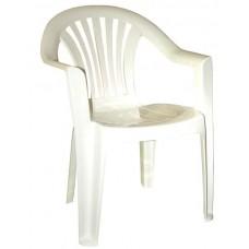 Кресло пластиковое Романтик белое