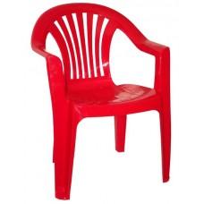 Кресло пластиковое Романтик красное