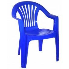 Кресло пластиковое Романтик синее