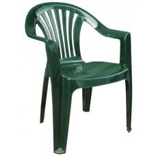Кресло пластиковое Романтик темно-зеленое
