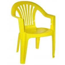 Кресло пластиковое Романтик жёлтое