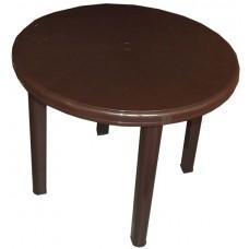 Стол пластиковый круглый Романтик шоколад