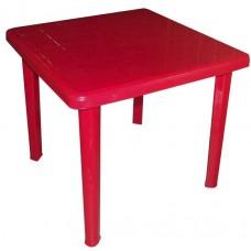 Стол пластиковый квадратный Романтик красный