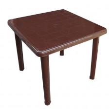 Стол пластиковый квадратный Романтик шоколад