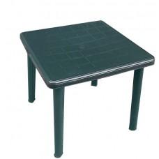 Стол пластиковый квадратный Романтик темно-зеленый